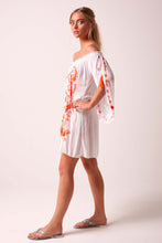 Fiesta Bardot Dress - Neon Orange