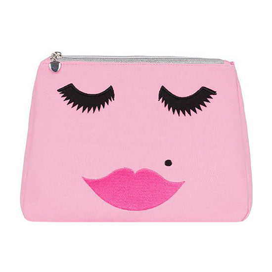 Fabulous Lashes small cosmetic bag - Candyfloss Pink - Emma Lomax