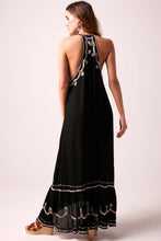 Flora Sequin Maxi Dress - Midnight Black