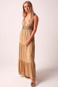 Glorious Goddess Maxi Dress - Nude