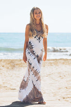 SOPHIA Beaded Back Maxi Dress Tie Dye - JASMINE