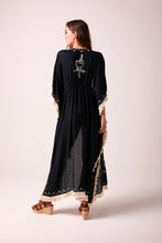 TULUM  - Fringed Maxi Jacket - black