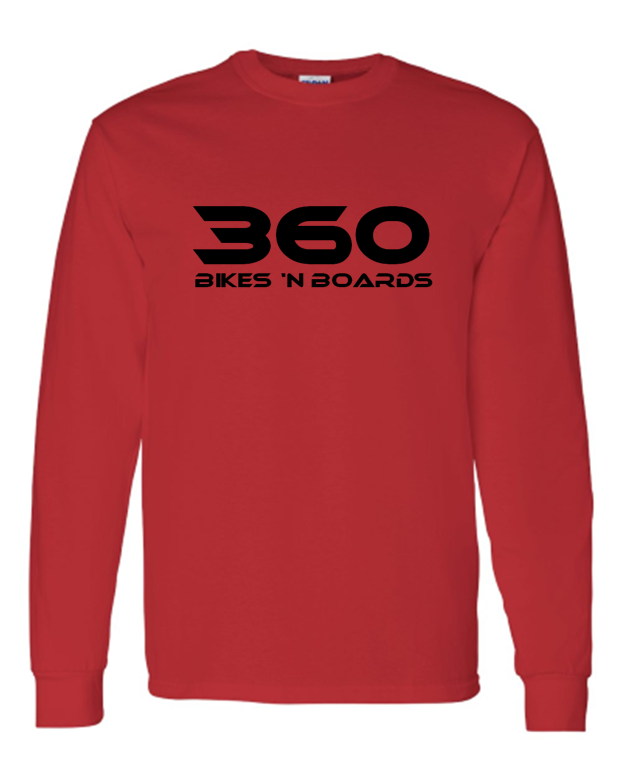 360 Long Sleeve Tee - Red