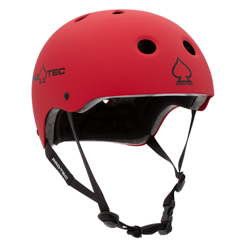 Pro-tec Classic Skate Matte Red Certified Helmet