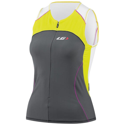 Louis Garneau Women's Comp Sleeveless Triathlon Top - Yellow/Grey