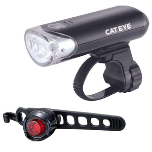 CatEye, HL-EL135 front + Orb rear, Light, Set, Black