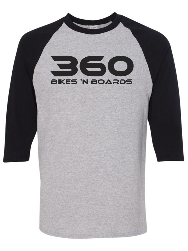360 3-Quarter Tee - Black/Grey