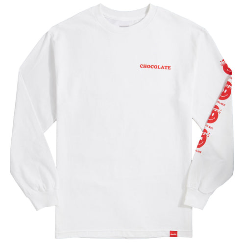 Chocolate Mindblown Long Sleeve Tee - White