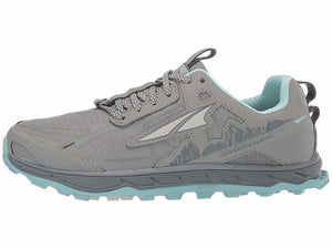 Altra Women's Lone Peak 4.5 Trail Running Shoe - Grey/Turquoise