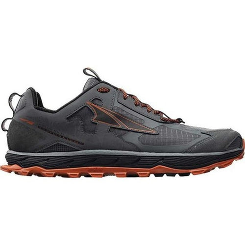 Altra Men's Lone Peak 4.5 Trail Running Shoe - Grey/Orange