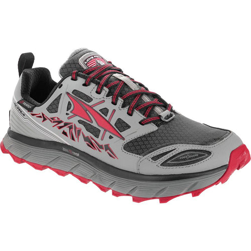 Altra Men's Lone Peak Neoshell 3.0 Trail Running Shoe - Grey/Red