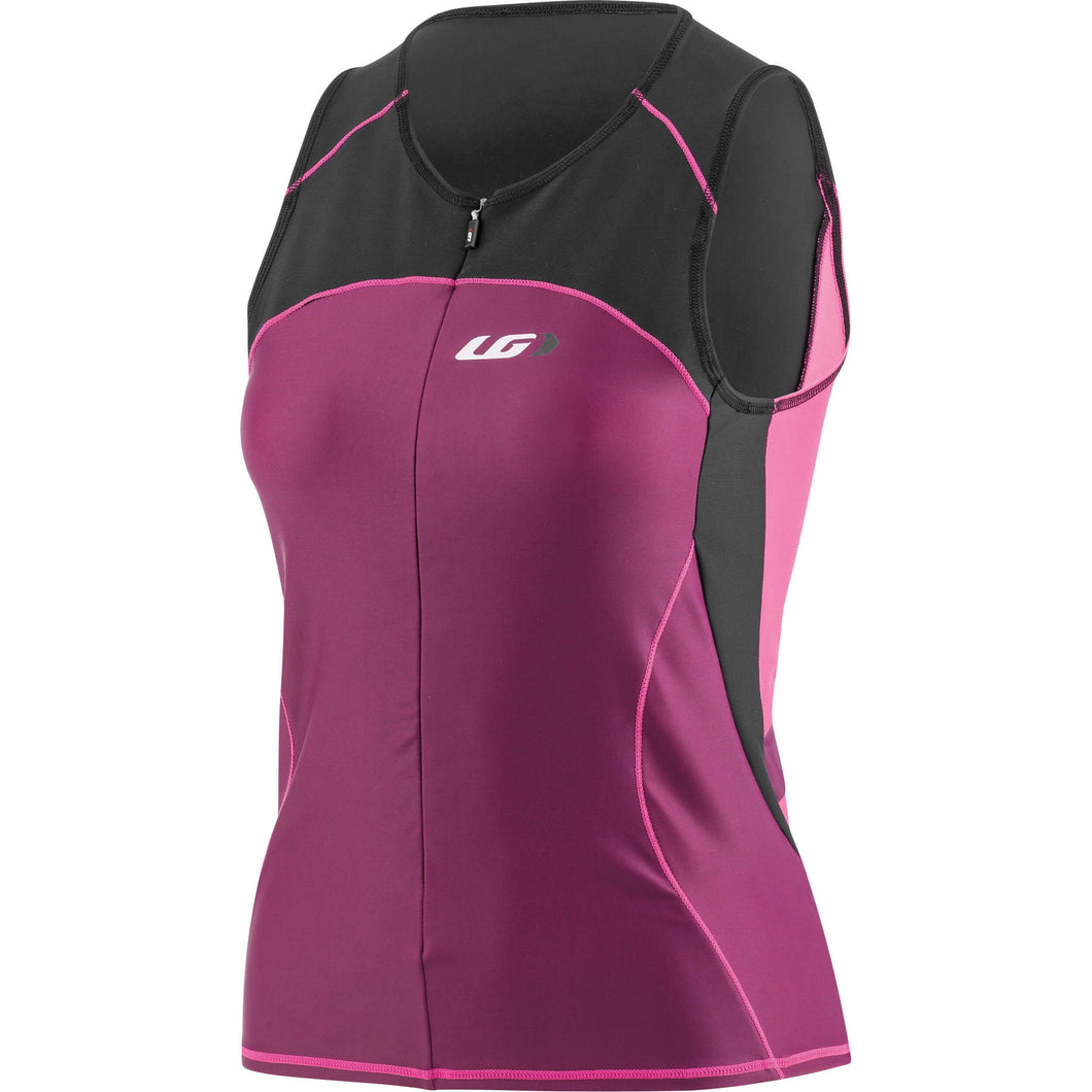 Louis Garneau Women's Comp Sleeveless Triathlon Top - Pink