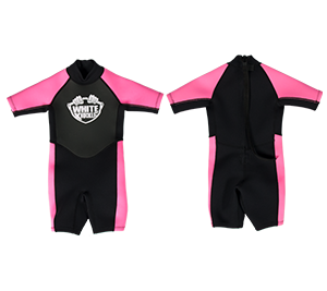 White Knuckle Kids Shorty Wetsuit - Girls