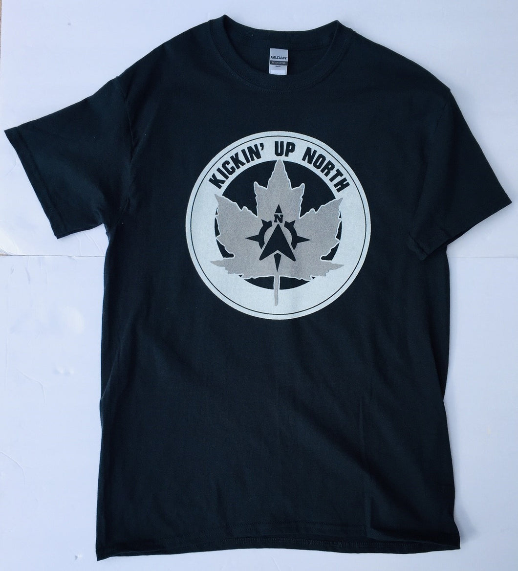 Kickin' Up North Black and White Tee Shirt