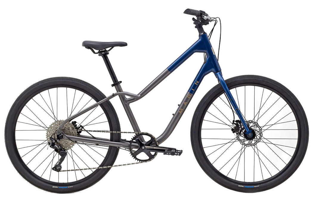 RESERVE - Marin Stinson 2 Hybrid Complete Bicycle - Charcoal/Blue