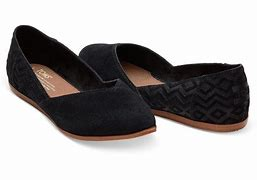 Toms Jutti Women's Shoes - Black Suede Diamond Embossed