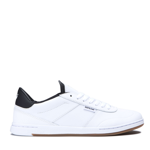 Supra Elevate Skate Shoes - White/Black