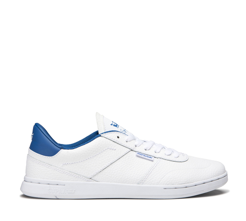 Supra Elevate Skate Shoes - White/Royal