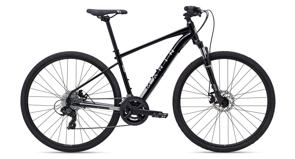 RESERVE - Marin San Rafael DS1 700C Complete Hybrid Bicycle - Black