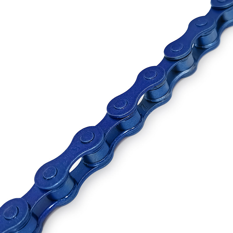Blue KMC Bicycle Chain