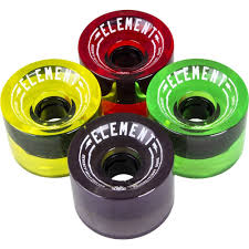 Element Rasta 70MM 78A Longboard Wheels