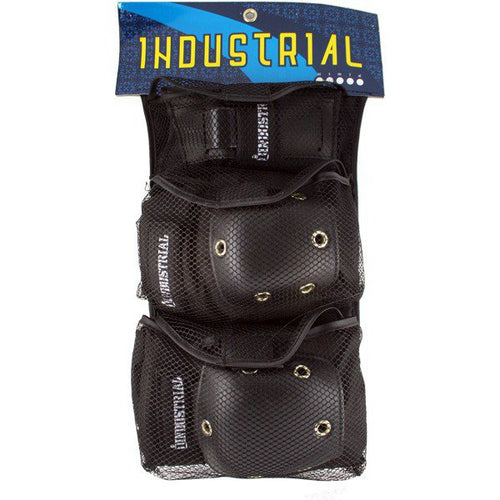 Industrial Skateboard Adult Pad Set - 3 IN 1 (Elbow Pads, Knee Pads & Wrist Guards)