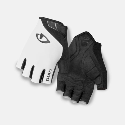 Giro Jag Men's Cycling Gloves - White/Black
