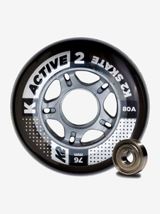 K2 Performance 76mm 80A 8pack Roller Skate Wheels