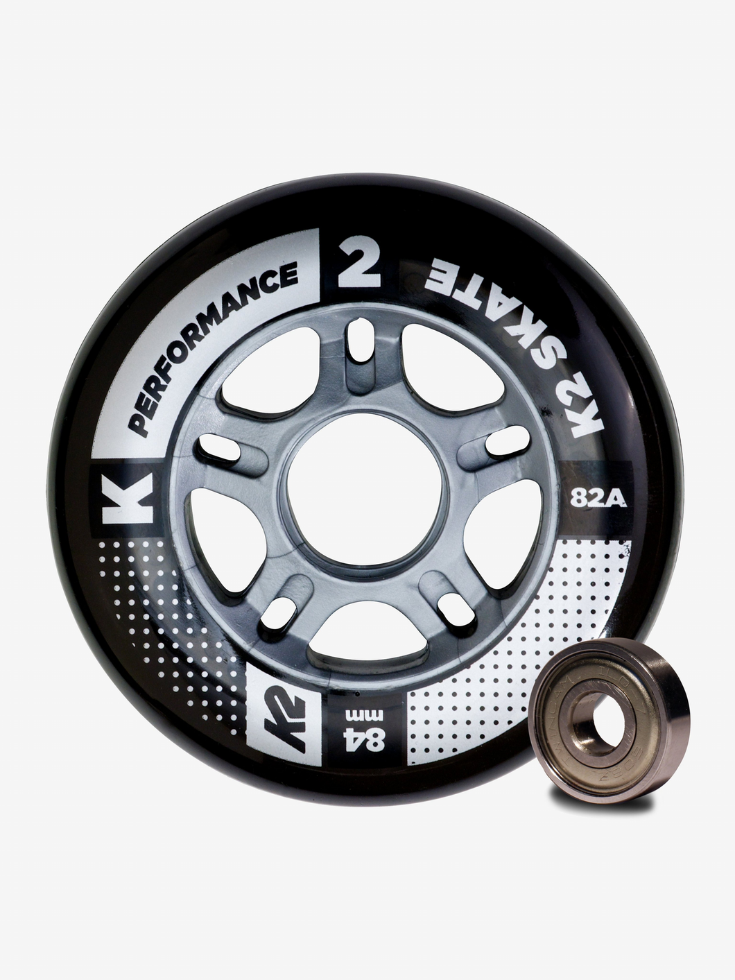 K2 Performance 84mm 82A 8pack Roller Skate Wheels