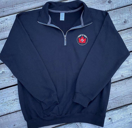 Kickin' Up North Quarter Zip Sweater