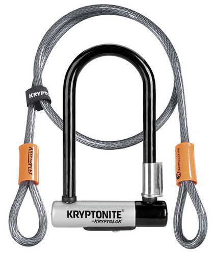 Kryptonite Evolution Mini-7 (black) with 4' Cable Key Lock