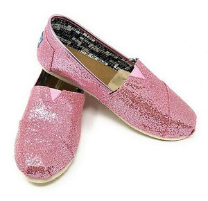 Toms Classic Women's Shoes - Pink Glitter