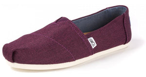 Toms Classic Women's Shoes - Black Cherry Poly Canvas