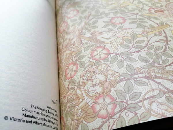 Interior of The Enchanted Interior exhibition catalogue with artwork by Walter Crane