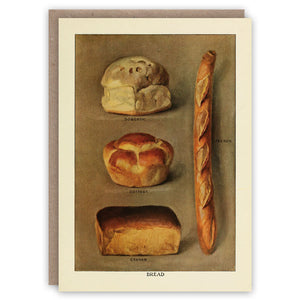 Greetings Card - image of four types of bread