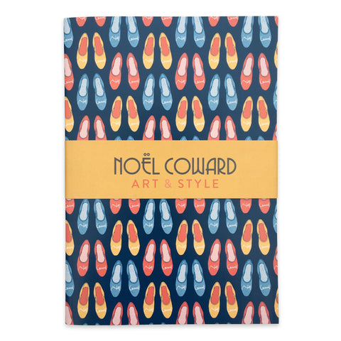 A5 lined notebook -  Noël Coward's slippers