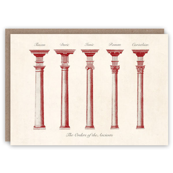 Greetings Card - Orders of the Ancients with five column designs