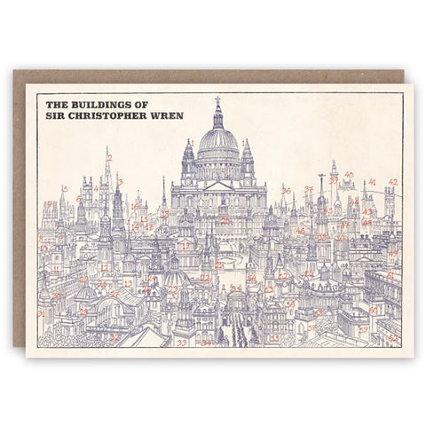 Greetings Card - Wren Buildings featuring St Paul's Cathedral