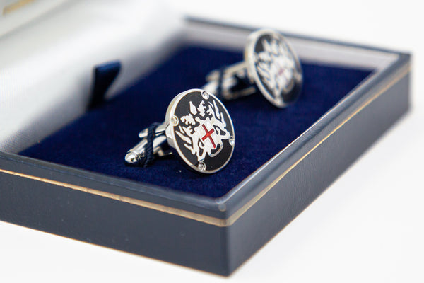 Black City of London Coat of Arms cufflinks