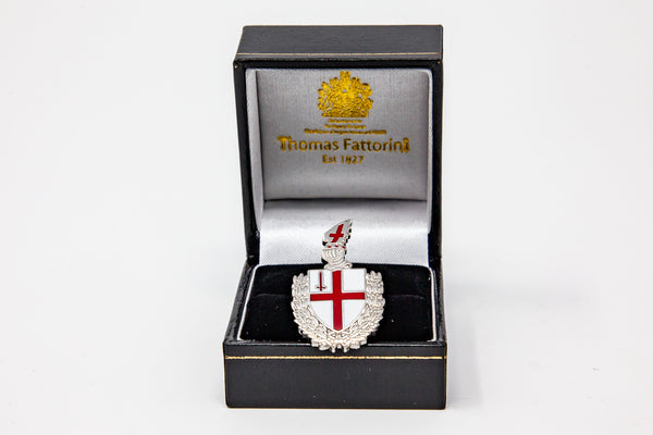 Enamel badge/brooch featuring the City of London shield