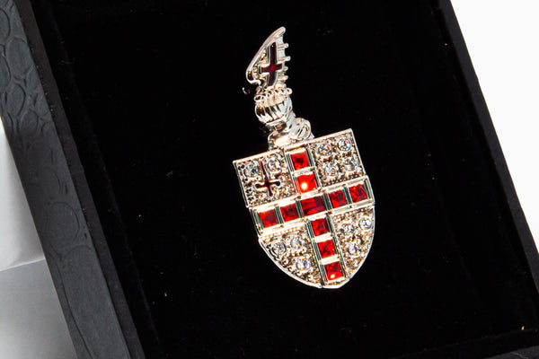 Sparkly City of London Shield brooch