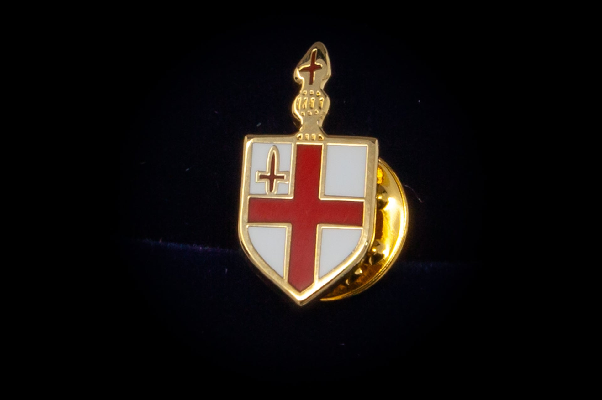 Shield tie pin