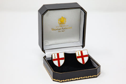 Sterling Silver City of London Cuff Links (plated in Gold)