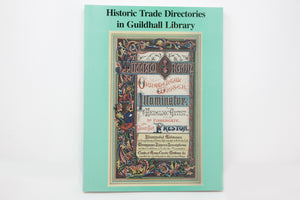 Historic Trade Directories in Guildhall Library