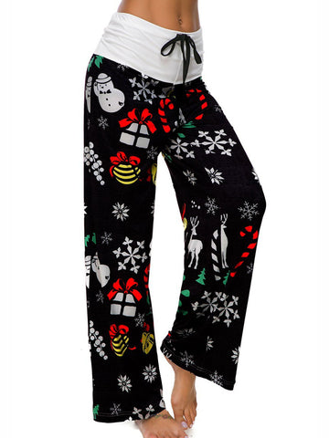 Printed Holiday Women Stretchy Pants