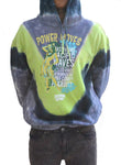 Power moves tie dye hoodie