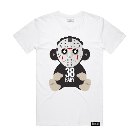 38 Baby Monkey Jason Mask - White