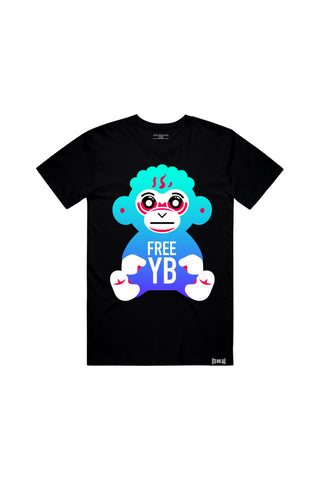 Free YB Monkey T-Shirt - Black