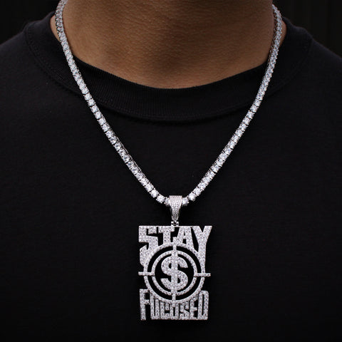 Stay Focused Necklace Tennis Chain set GSG