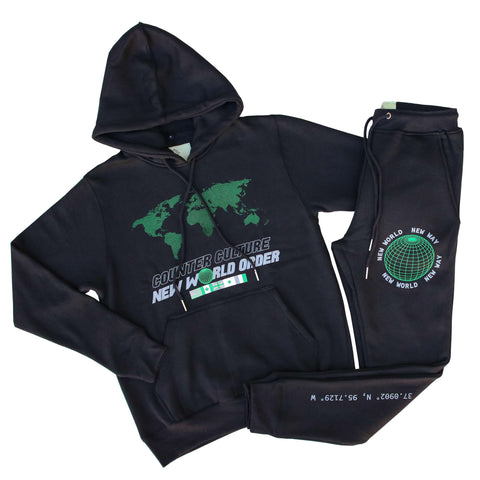 New World Order Neon Green Sweat Suit